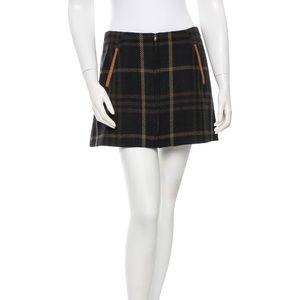 Thakoon addition plaid wool skirt